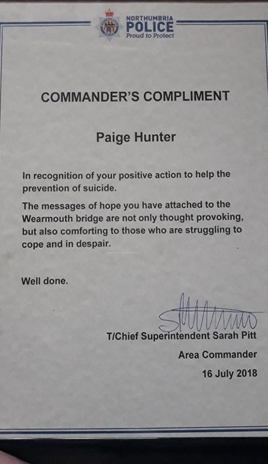 premio Paige Hunter