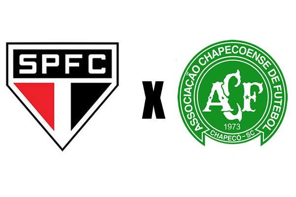 sao paulo x chapecoense campeonato brasileiro
