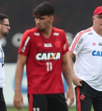 Flamengo provável time contra o Corinthians