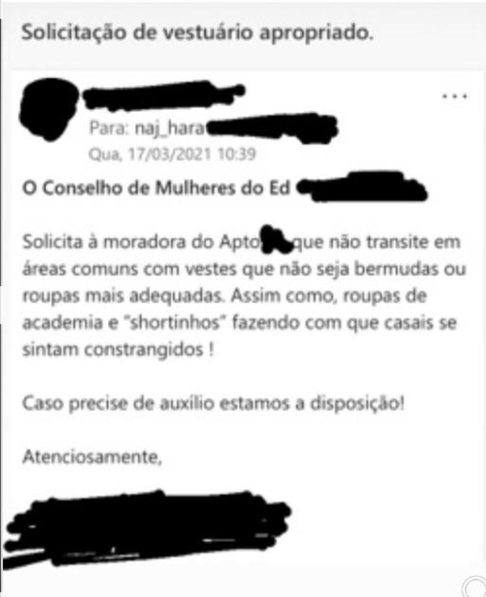 E-mail enviado para moradora do Sudoeste em Braslia pede que mulher no use shortinhos em reas comuns Foto Reproduo
