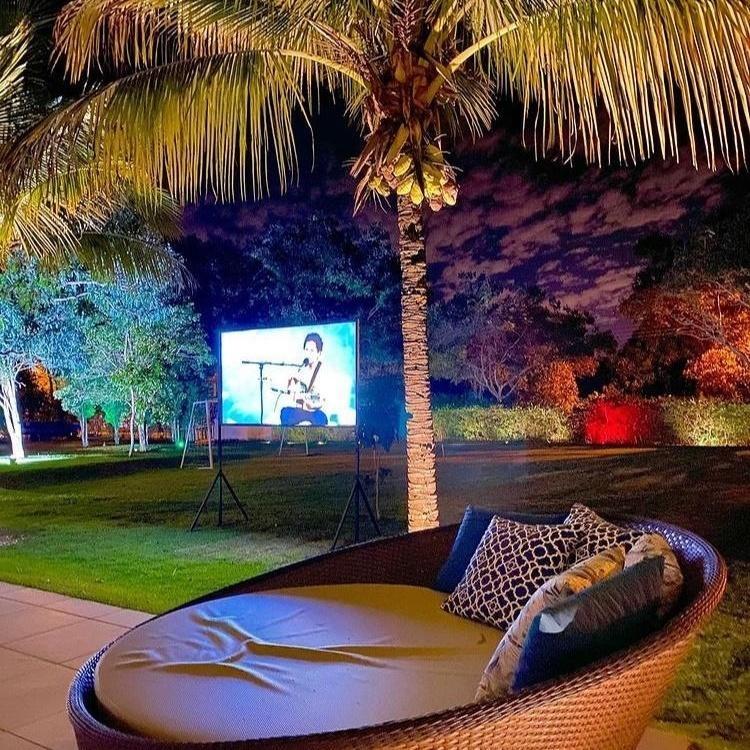 Quintal da manso do sertanejo Rodolffo do BBB 21 em Goinia - Reproduo Instagram