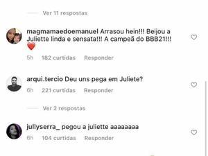 Comentrios no ltimo post de Thiago Rodrigues no Instagram - Reproduo - Reproduo