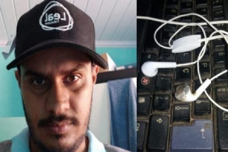 Jovem usava fones de ouvido quando receber descarga eltrica Foto Reproduo Jornal do Vale - Foto Reproduo Jornal do Vale